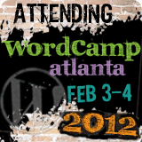 Attending WordCamp Atlanta 2012