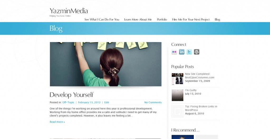 YazminMedia Website