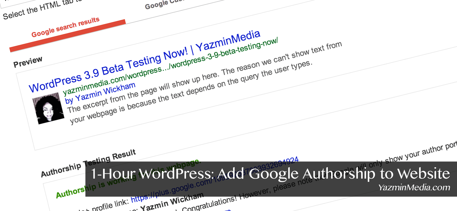 1-Hour WordPress: Add Google Authorship to Website