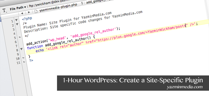 1-Hour WordPress: Create a Site-Specific Plugin