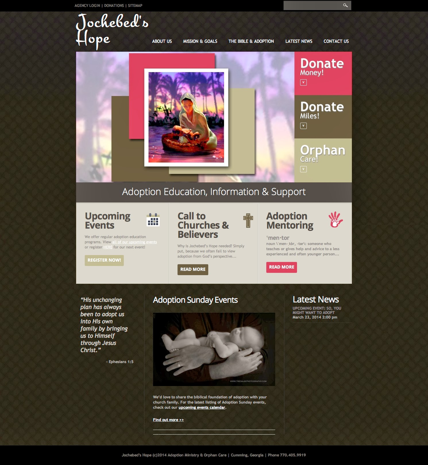Website Launch: Jochebed's Hope