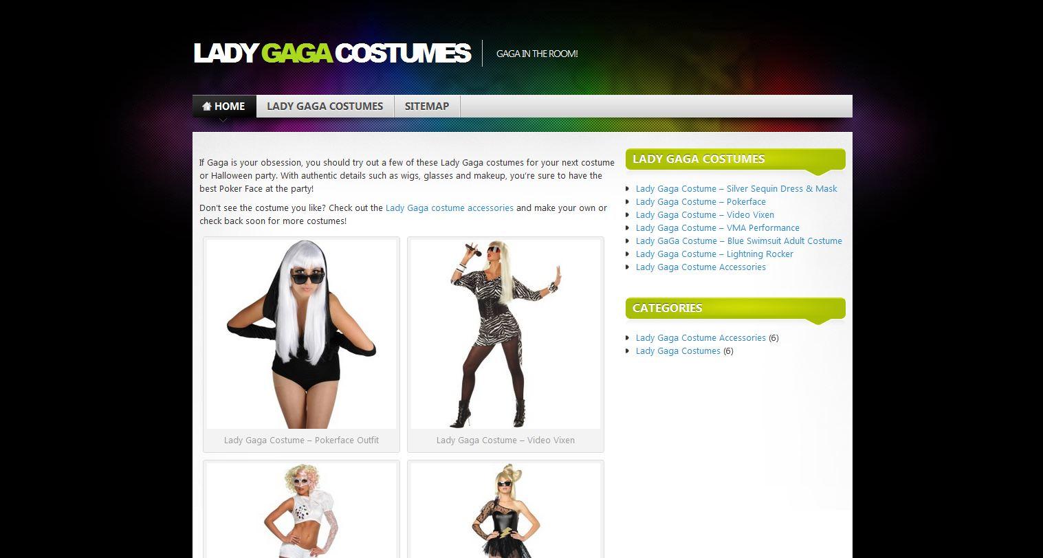 Website Launch: Shop Lady Gaga Costumes