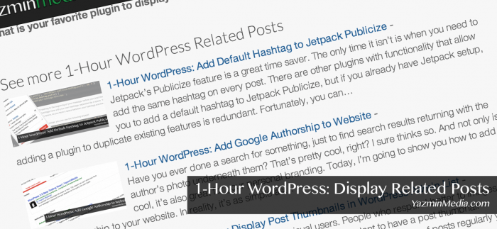 1-Hour WordPress: Display Related Posts