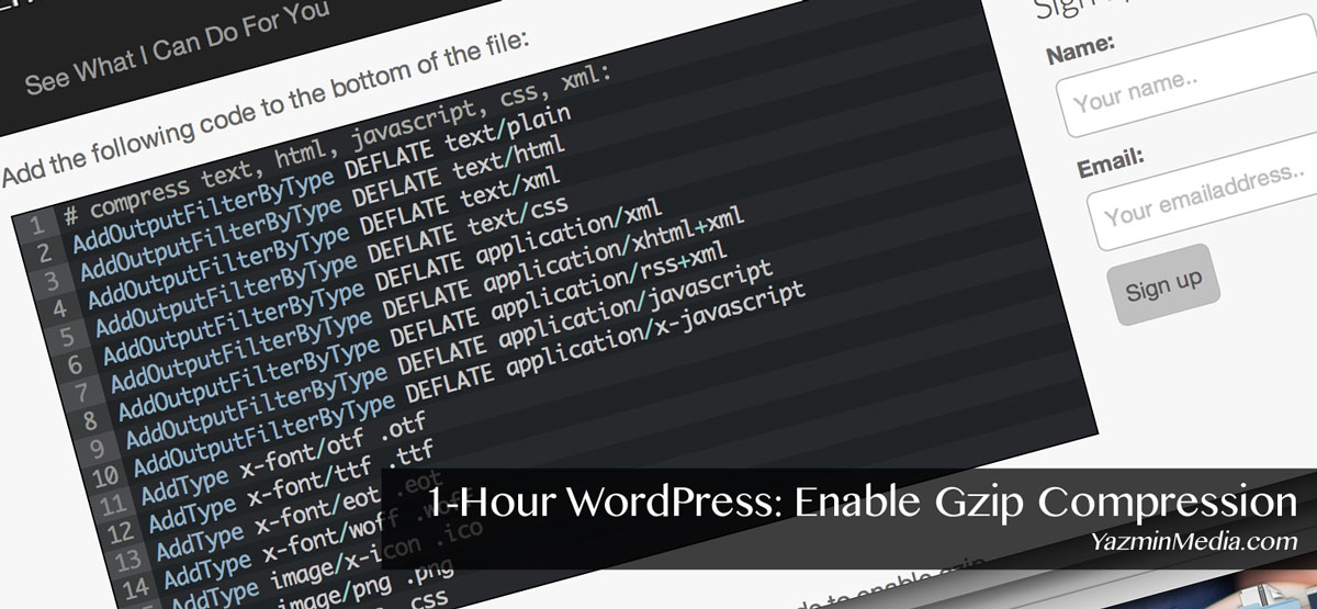 1-Hour WordPress: Enable Gzip Compression