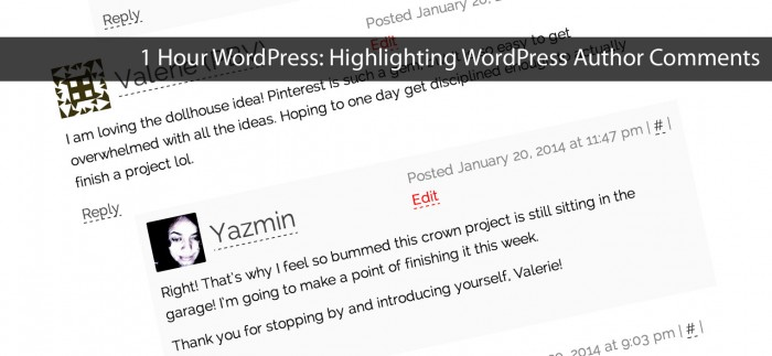 Highlight Author Comments in WordPress