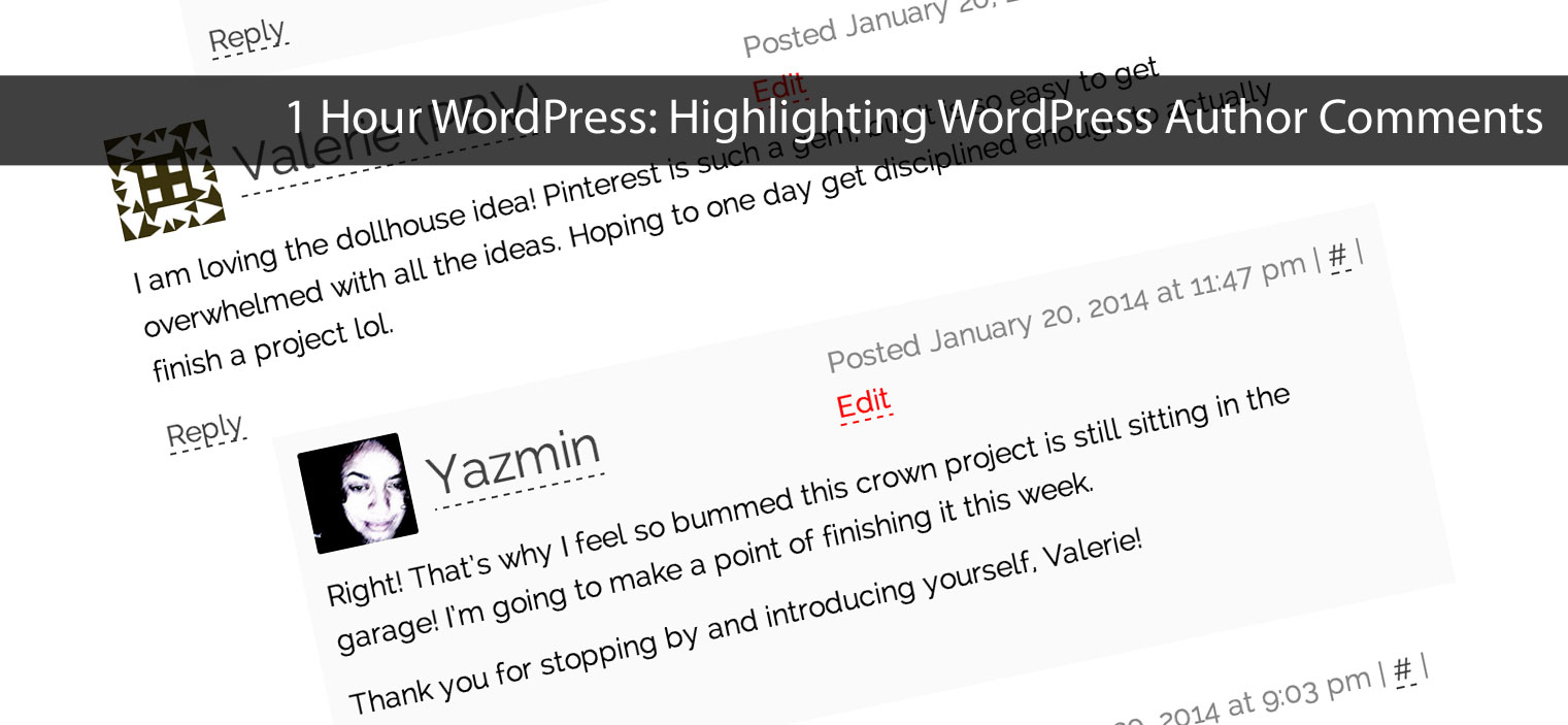1-Hour WordPress: Highlight Author Comments