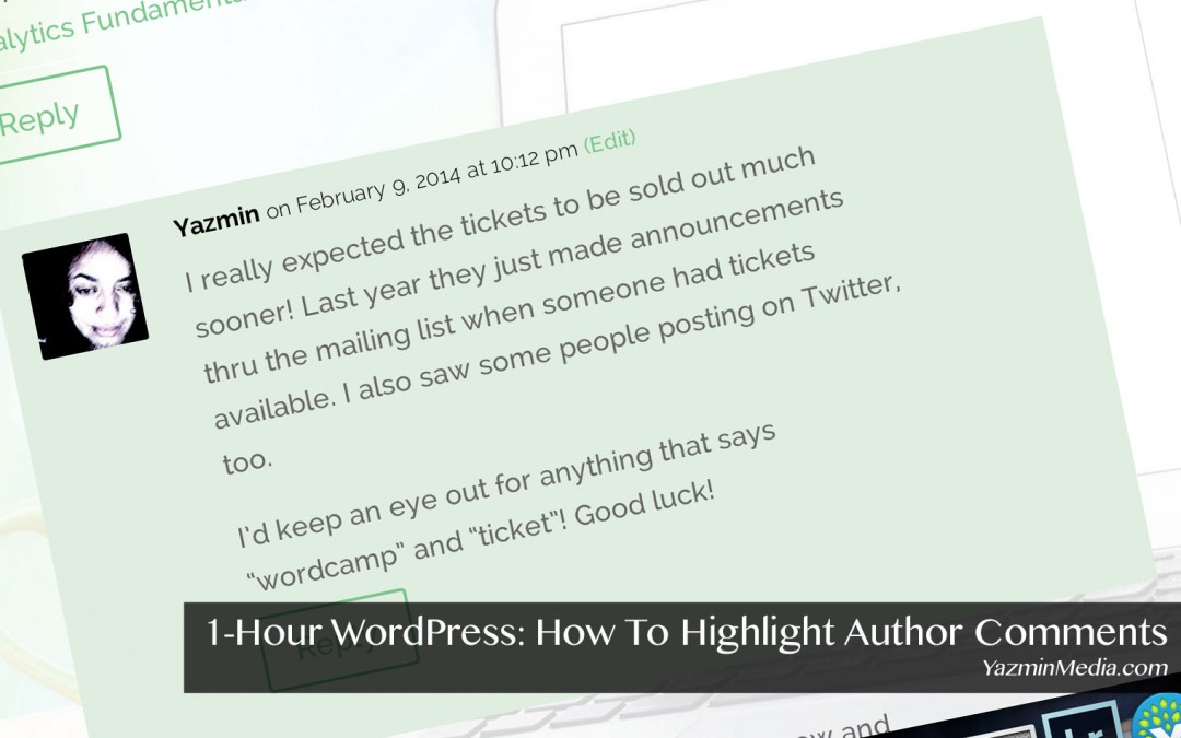 1-Hour WordPress: Highlight Author Comments – Version 2.7+