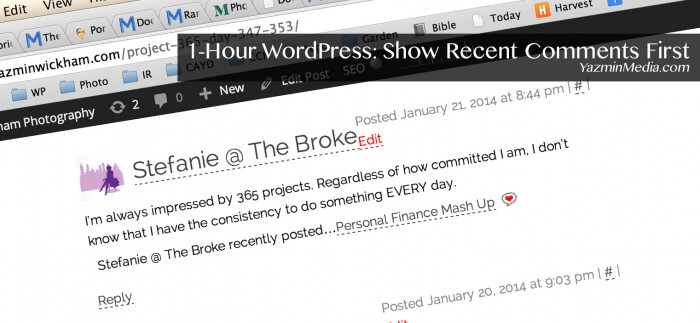 WordPress Show Recent Comments First
